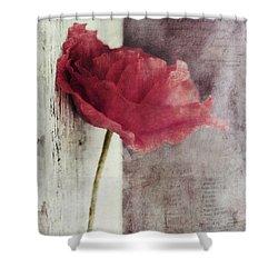 Decor Poppy Shower Curtain by Priska Wettstein