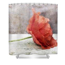 Decor Poppy Red Shower Curtain by Priska Wettstein