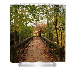 Decorate With Leaves - Holmdel Park Shower Curtain by Angie Tirado