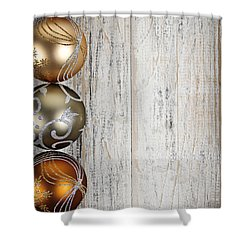 Decorated Christmas Ornaments Shower Curtain by Elena Elisseeva
