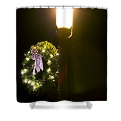 Decorating For Christmas Shower Curtain by Kenneth Albin