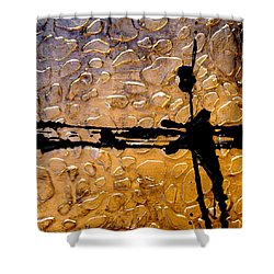 Decorative Abstract Giraffe Print Shower Curtain by Holly Anderson