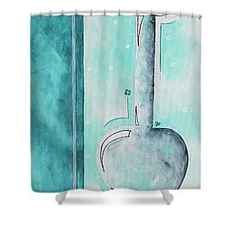 Decorative Floral Vase Painting Shabby Chic Style Relax And Unwind II By Madart Studios Shower Curtain by Megan Duncanson