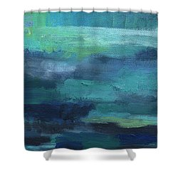 Tranquility- Abstract Painting Shower Curtain