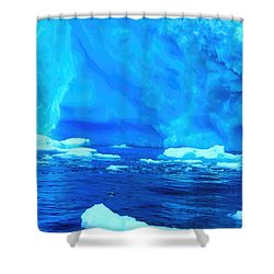 Shower Curtain featuring the photograph Deep Blue Iceberg by Amanda Stadther
