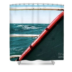 Shower Curtain featuring the photograph Deep Blue Sea Of The Gulf Of Mexico Off The Coast Of Louisiana Louisiana by Michael Hoard