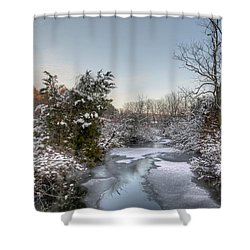 Deep Creek At Green Lane Reservoir - Pennsylvania Usa Shower Curtain by Mother Nature