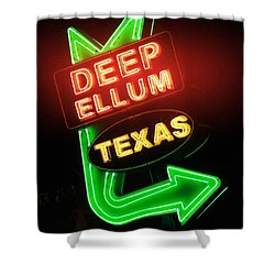 Deep Ellum Red Glow Shower Curtain