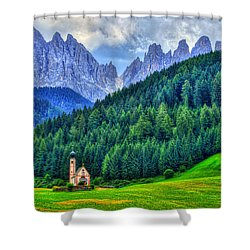 Deep In The Mountains Shower Curtain by Midori Chan