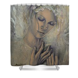 Deep Inside Shower Curtain by Dorina  Costras