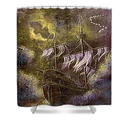 Deep Peace Shower Curtain