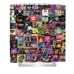 Deep Purple Collage Shower Curtain