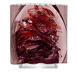 Deep Reds II  Pre1 Shower Curtain by David Patterson