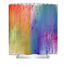 Deep Rich Sherbet Abstract Shower Curtain by Andee Design