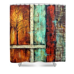 Deep Roots-a Shower Curtain by Jean Plout