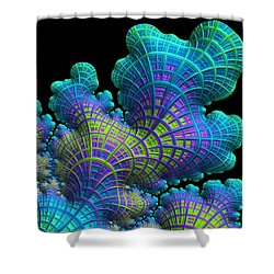 Deep Sea Coral Shower Curtain