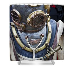 Deep Sea Diving Gear Shower Curtain