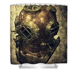 Deep Sea Diving Helmet Shower Curtain