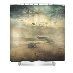 Deep Sleep Shower Curtain by Taylan Apukovska