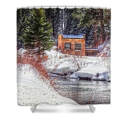 Deep Snow In Spearfish Canyon Shower Curtain by Lanita Williams