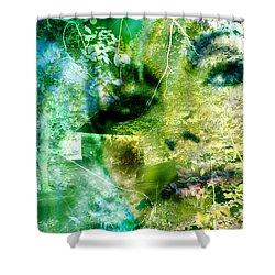 Shower Curtain featuring the digital art Deep Woods Wanderings by Seth Weaver
