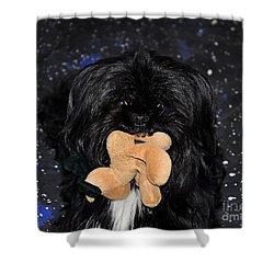 Deer Dog Shower Curtain by Al Powell Photography USA