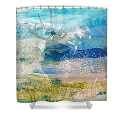 Deer Hunter Madness Shower Curtain by PainterArtist FIN and Maestro