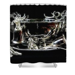 Deer Punch Bowl Set Shower Curtain by EricaMaxine  Price
