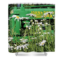 Deere 1 Shower Curtain by Lynn Sprowl