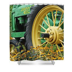 Deere 2 Shower Curtain by Lynn Sprowl