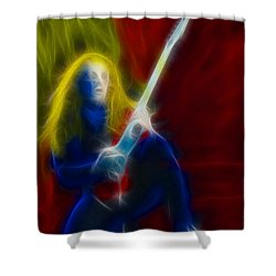 Def Leppard-adrenalize-ga5-vivian-fractal Shower Curtain by Gary Gingrich Galleries