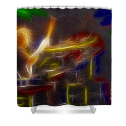 Def Leppard-adrenalize-gf24-ricka-fractal Shower Curtain by Gary Gingrich Galleries