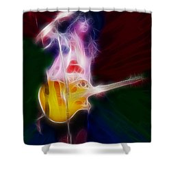 Deff Leppard-adrenalize-joe-gf25-fractal Shower Curtain by Gary Gingrich Galleries