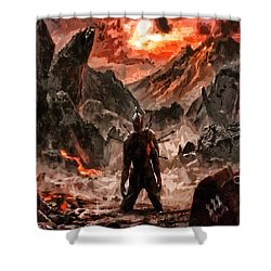 Defiant To The End Shower Curtain