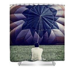 Deflated Shower Curtain by Edward Fielding