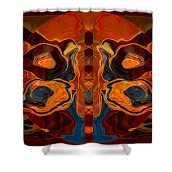 Shower Curtain featuring the painting Deities Abstract Digital Artwork by Omaste Witkowski