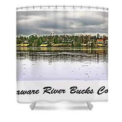Delaware River Bucks County Shower Curtain by Tom Gari Gallery-Three-Photography