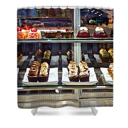 Delectable Desserts Shower Curtain