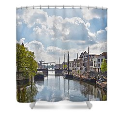 Delfshaven Rotterdam Shower Curtain