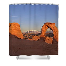 Delicate Arch At Sunset-2 Shower Curtain by Alan Vance Ley