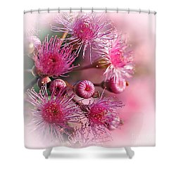 Delicate Buds And Blossoms Shower Curtain by Kaye Menner