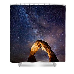 Delicate Light Shower Curtain by Darren  White