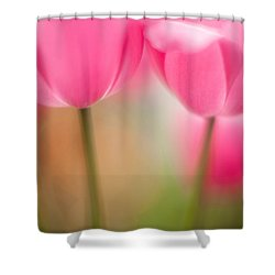 Delicate Light Of Spring Shower Curtain by Mike Reid