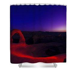 Delicate Twilight Shower Curtain by Dustin  LeFevre