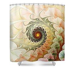 Delicate Wave Shower Curtain by Anastasiya Malakhova