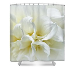 Delicate White Softness Shower Curtain