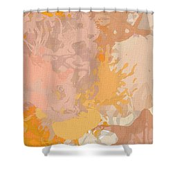 Delicately Peach Shower Curtain by Lourry Legarde
