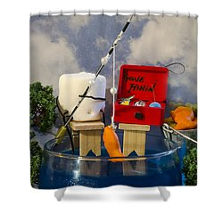 Delicious Fish Shower Curtain by Heather Applegate