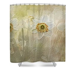 Delightful Daffodils Shower Curtain by Diane Schuster