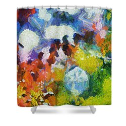 Shower Curtain featuring the digital art Delightful Surprise by Joe Misrasi
